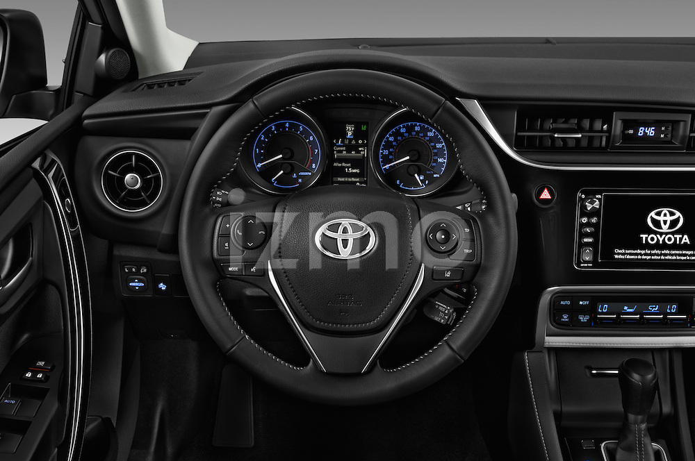 Car pictures of steering wheel view of a 2018 Toyota Corolla-iM CVT-Automatic 5 Door Hatchback Steering Wheel
