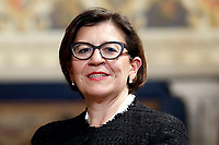 Minister of Defense Elisabetta Trenta<br /> Rome December 19th 2018. Quirinale. Traditional exchange of Christmas wishes between the President of the Republic and the institutions.<br /> Foto Samantha Zucchi Insidefoto
