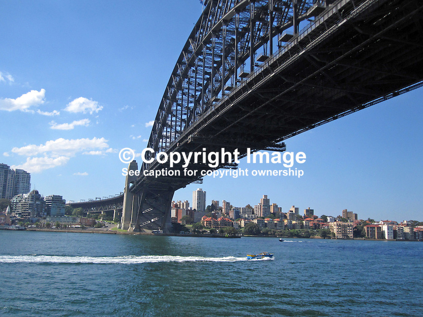 Sydney Harbour Bridge, Sydney Harbour, Australia, 201003250013..Copyright Image from Victor Patterson, 54 Dorchester Park, Belfast, United Kingdom, UK. Tel: +44 28 90661296. Email: victorpatterson@me.com; Back-up: victorpatterson@gmail.com..For my Terms and Conditions of Use go to www.victorpatterson.com and click on the appropriate tab.