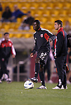 20 March 2004: Fourteen year old Freddy Adu during pregame warmups. DC United of Major League Soccer defeated the Charleston Battery of the A-League 2-1 at Blackbaud Stadium in Charleston, SC in a Carolina Challenge Cup match..
