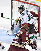 Cory Schneider, Ryan Duncan, Tim Filangieri - The Boston College Eagles defeated the University of North Dakota Fighting Sioux 6-5 on Thursday, April 6, 2006, in the 2006 Frozen Four afternoon Semi-Final at the Bradley Center in Milwaukee, Wisconsin.