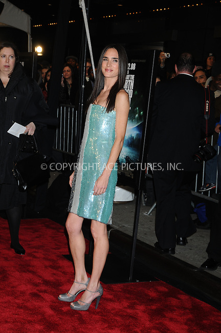 WWW.ACEPIXS.COM . . . . .  ....December 9, 2008. New York City.....Actress Jennifer Connolly attends 'The Day the Earth Stood Still' premiere held at the AMC Loews Lincoln Theatre on December 9, 2008 in New York City.......Please byline: AJ Sokalner - ACEPIXS.COM.... *** ***..Ace Pictures, Inc:  ..Philip Vaughan (646) 769 0430..e-mail: info@acepixs.com..web: http://www.acepixs.com