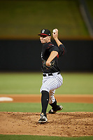 Birmingham Barons pitcher Jake Johansen (35) delivers a pitch during a game against the Tennessee Smokies on August 16, 2018 at Regions FIeld in Birmingham, Alabama.  Tennessee defeated Birmingham 11-1.  (Mike Janes/Four Seam Images)