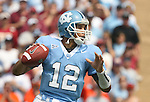 09 September 2006: North Carolina's Joe Dailey drops back to pass. The University of North Carolina Tarheels lost 35-10 to the Virginia Tech Hokies at Kenan Stadium in Chapel Hill, North Carolina in an Atlantic Coast Conference NCAA Division I College Football game.