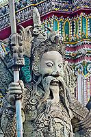 Farang Guard, Wat Pho, Bangkok, Thailand.