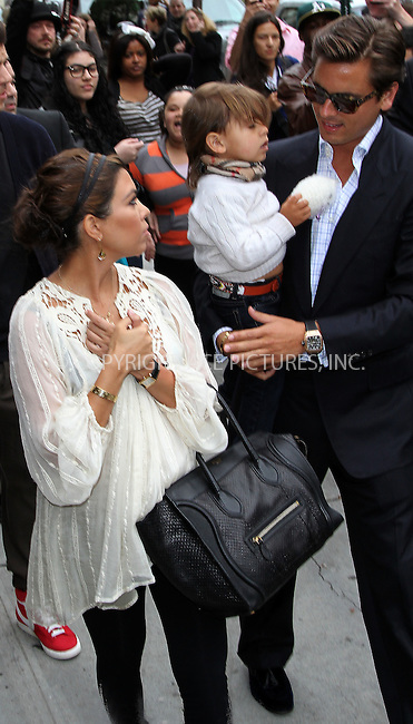 WWW.ACEPIXS.COM . . . . .  ....April 23 2012, New York City....TV personality Kourtney Kardashian leaves a downtown hotel with Scott Disick and her son Mason on April 23 2012 in New York City....Please byline: Zelig Shaul - ACE PICTURES.... *** ***..Ace Pictures, Inc:  ..Philip Vaughan (212) 243-8787 or (646) 769 0430..e-mail: info@acepixs.com..web: http://www.acepixs.com