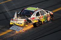 Oct 5, 2008; Talladega, AL, USA; NASCAR Sprint Cup Series driver Greg Biffle (16) after crashing during the Amp Energy 500 at the Talladega Superspeedway. Mandatory Credit: Mark J. Rebilas-