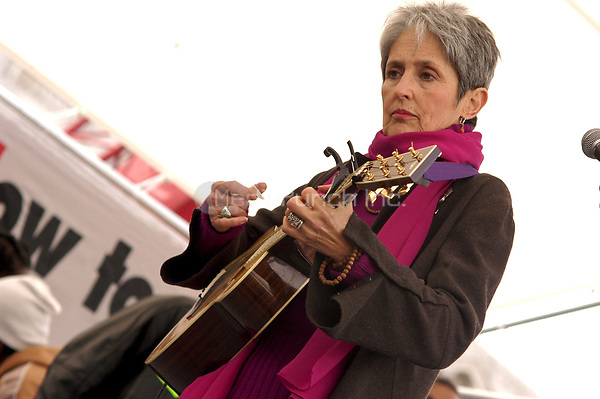 Joan Baez performs at San Francisco Peace Rally following massive Anti-War March on February 16, 2003<br /> &copy; Anthony Pidgeon / MediaPunch.