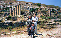 Libya   Cyrene.Archaeological site, Apollo sanctuary,  .City founded by the Greek 3rd century BC.Libyan tourists.UNESCO World Heritage Site.......