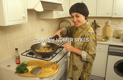 Linda Hartley actress at home London 1991