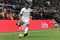 Renato Sanches of Swansea City takes a free kick during the Premier League match between Watford and Swansea City at the Vicarage Road, Watford, England, UK. Saturday 30 December 2017