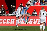 Bridgeview, IL - Saturday April 22, 2017: Becca Moros, Sofia Huerta during a regular season National Women's Soccer League (NWSL) match between the Chicago Red Stars and FC Kansas City at Toyota Park.