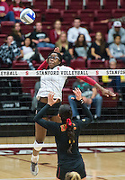 Stanford, CA, October 30, 2013.Stanford Women's volleyball versus USC at Stanford. Stanford lost 3-2.