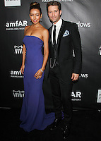 HOLLYWOOD, LOS ANGELES, CA, USA - OCTOBER 29: Renee Puente, Matthew Morrison arrive at the 2014 amfAR LA Inspiration Gala at Milk Studios on October 29, 2014 in Hollywood, Los Angeles, California, United States. (Photo by Celebrity Monitor)