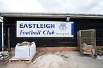 Eastleigh 0 Tranmere Rovers 1, 23/04/2016. Silverlake Stadium (Ten Acres), National League. The club was formed on 22 May 1946 by Derik Brooks and a group of friends in the Fleming Arms public house in Southampton and originally known as Swaythling Athletic. Eastleigh have risen through the leagues and are now firmly established in the Vanarama National League. Photo by Simon Gill.