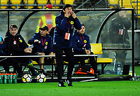 Wellington coach Darije Kalezic makes a point during the A-League football match between Wellington Phoenix and Melbourne Victory at Westpac Stadium in Wellington, New Zealand on Friday, 10 January 2018. Photo: Dave Lintott / lintottphoto.co.nz