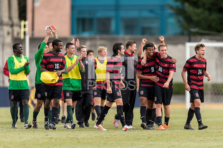 BERKELEY, CA - November 16, 2014: The Stanford Cardinal vs Cal Bears men's soccer match in Berkeley, California. Final score, Stanford 2, Cal 0.