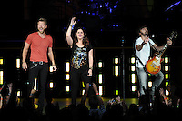 WEST PALM BEACH - MAY 12: (L-R) Charles Kelley, Hillary Scott and Dave Haywood of Lady Antebellum  perform at the Cruzan Amphitheatre on May 12, 2012 in West Palm Beach, Florida.© mpi04/MediaPunch Inc