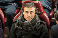 Barcelona´s coach Luis Enrique during 2014-15 Spanish King Cup match between Atletico de Madrid and Barcelona at Vicente Calderon stadium in Madrid, Spain. January 28, 2015. (ALTERPHOTOS/Luis Fernandez) /nortephoto.com<br />