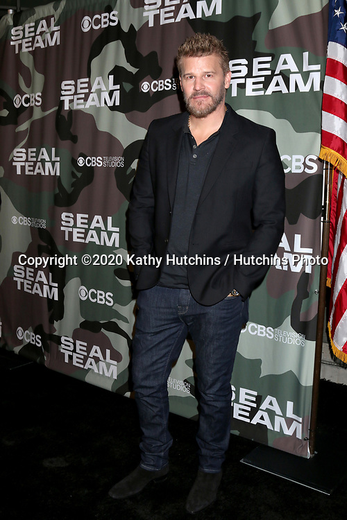 """LOS ANGELES - FEB 25:  David Boreanaz at the """"Seal Team"""" Screening at the ArcLight Hollywood on February 25, 2020 in Los Angeles, CA"""