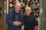 Oliver Flanagan (right) with Retired Assistant County Fire Officer Liam Malone on retiring from the Fire Service in his 40th year in Service...(Photo credit should read Jenny Matthews www.newsfile.ie)....This Picture has been sent you under the conditions enclosed by:.Newsfile Ltd..The Studio,.Millmount Abbey,.Drogheda,.Co Meath..Ireland..Tel: +353(0)41-9871240.Fax: +353(0)41-9871260.GSM: +353(0)86-2500958.email: pictures@newsfile.ie.www.newsfile.ie.