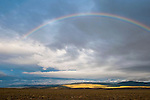 Fainbow over the Toano Range, passing summer strom