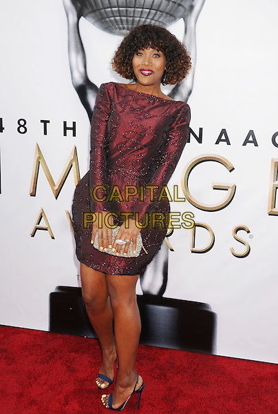 PASADENA, CA - FEBRUARY 11: Actress DeWanda Wise arrives at the 48th NAACP Image Awards at Pasadena Civic Auditorium on February 11, 2017 in Pasadena, California.<br /> CAP/ROT/TM<br /> &copy;TM/ROT/Capital Pictures