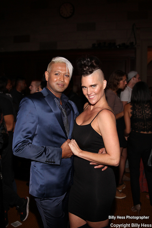 Celebrity Hair Stylist Mark De Alwis with model at World Fashion Parade for Peace after party