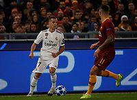 Lucas Vazquez of Real Madrid  during the Champions League Group  soccer match between AS Roma - Real Madrid  at the Stadio Olimpico in Rome Italy 27 November 2018