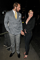Chris Robshaw and Camilla Kerslake at the LFW (Men's) a/w2018 GQ Dinner, Berners Tavern, The London Edition Hotel, Berners Street, London, England, UK, on Monday 08 January 2018.<br /> CAP/CAN<br /> &copy;CAN/Capital Pictures