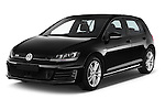 2014 Volkswagen GOLF GTD 5 Door Hatchback Angular Front stock photos of front three quarter view