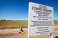 Urban Development on Farmland in Maricopa County, Arizona, United States