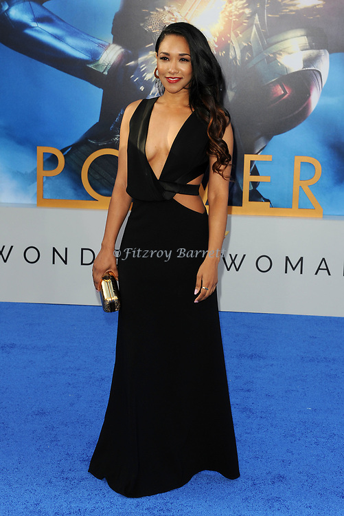 Candice Patton arriving at the Los Angeles world premiere of Wonder Women, held at the Pantages Theatre Hollywood, California on May 25, 2017