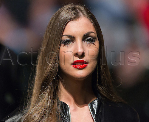31.03.2016. The Motorpoint Arena, Cardiff.  Betway PDC Premier League Darts Judgement Night.  Walk on girl Daniella Allfree