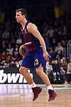 Turkish Airlines Euroleague 2018/2019. <br /> Regular Season-Round 16.<br /> FC Barcelona Lassa vs Darussafaka Tekfen Istanbul: 97-65.<br /> Kevin Pangos.