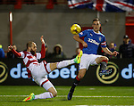 Lee Wallace finds Martyn Waghorn for the second goal