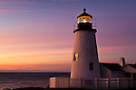 Pemaquid Point Light Station, Muscongus Bay, Bristol, Maine, USA.