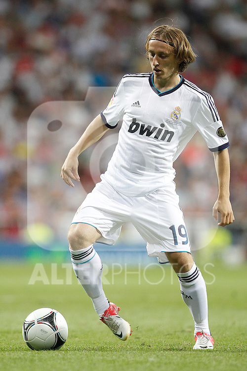 Real Madrid's Luka Modric during Spanish Supercup 2nd match on august 29 2012...Photo: Cebola / Cid-Fuentes / ALFAQUI