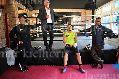 March 16-17,Legends Fight &amp; Box Academy,Berlin,Germany<br /> Media day before the fight of Marco Huck vs Mairis Briedis for regular or interim WBC World cruiserweight title and<br /> International Boxing Organization World cruiserweight title<br /> Marco Huck trains with his new coach Oktay Urkal,r