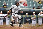 LaMonte Wade (6)<br /> Maryland v Michigan<br /> Big 10 Baseball Tournament Championship Game<br /> <br /> &copy;2015 Bruce Kluckhohn<br /> #612-929-6010<br /> bruce@brucekphoto.com