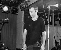 Ian MacKaye after racist skinhead charged the stage during Fugazi show at the Speedway Cafe.<br />