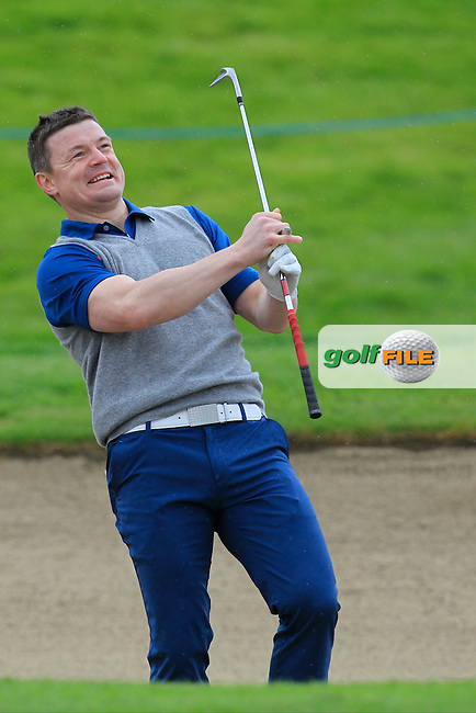 Brian O'Driscoll (AM) on the 18th during Wednesday's Pro-Am round of the Dubai Duty Free Irish Open presented  by the Rory Foundation at The K Club, Straffan, Co. Kildare<br /> Picture: Golffile | Thos Caffrey<br /> <br /> All photo usage must carry mandatory copyright credit <br /> (&copy; Golffile | Thos Caffrey)