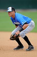 Hudson Valley Renegades first baseman Ben Kline #13 during a game versus the Lowell Spinners at LeLacheur Park in Lowell, Massachusetts on August 18, 2013.  (Ken Babbitt/Four Seam Images)