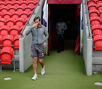 Lincoln City's assistant manager Nicky Cowley on arrival at Doncaster Rovers<br /> <br /> Photographer Andrew Vaughan/CameraSport<br /> <br /> EFL Leasing.com Trophy - Northern Section - Group H - Doncaster Rovers v Lincoln City - Tuesday 3rd September 2019 - Keepmoat Stadium - Doncaster<br />  <br /> World Copyright © 2018 CameraSport. All rights reserved. 43 Linden Ave. Countesthorpe. Leicester. England. LE8 5PG - Tel: +44 (0) 116 277 4147 - admin@camerasport.com - www.camerasport.com