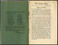 BNPS.co.uk (01202 558833)<br /> Pic: JArter/RSM/BNPS<br /> <br /> A book of writings co-authored by AA Milne colourfully reflecting on his time spent as a First World War propagandist is being displayed for the first time ever. <br /> <br /> 'The Green Book' was written by the Winnie the Pooh author and fellow members of MI7b - a little-known intelligence branch of the War Office that produced propaganda. <br /> <br /> When the war ended officials attempted to destroy all traces of the secret department but four years ago 150 documents were unearthed inside the attic of one of its members. <br /> <br /> Now the ultra-rare copy, which is one of only two that exist, has been placed on display at the Royal Signals Museum in Blandford, Dorset.