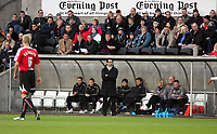 Pictured: Roberto Martínez Manager of Swansea City watches on <br />