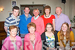 5452-5455.---------.Holidays.--------.Jo Bloemer,origonally from Brosna(seated 2nd from the Lt)but living in New Orleans,USA for the past 23yrs dined with family in Cassidy's restaurant,Tralee last Friday night at the end of her visit home(seated)L-R Noreen O'Callaghan,Jo,Ciara and Nora Bloemer(back)L-R Padraig Griffin,Kieran&Ned Callaghan with Marian&Derry Griffin.