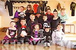 Having a spooktacular time at Ballincrossig national school on Friday were: Emma Leen, Pablo Lopez Phelan, Cara Reilly, Christian Healy and Dylan Murphy. Middle row: Molly O'Roarke, Diarmuid O'Connor, Keith Cotter and Cora O'Connor. Back l-r were: Nathan McAuliffe, Lauren O'Shea, Emily O'Roarke, Mairead Brosnan and Rebecca Reilly.