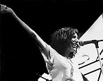 Patti Smith performs onstage at the Schaeffer Music Festival in Central Park, NYC in July 1976