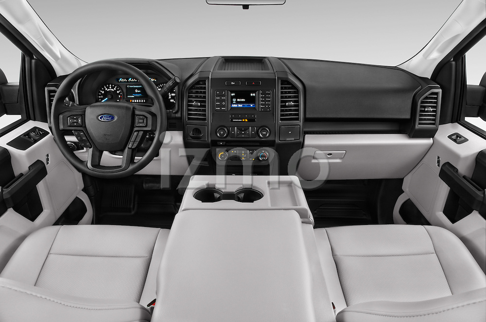 Stock photo of straight dashboard view of 2016 Ford F 150 XL 2 Door Pickup Dashboard